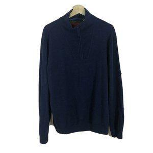 Robert Graham Men's Wool Blue 1/4 Zip XL sweater
